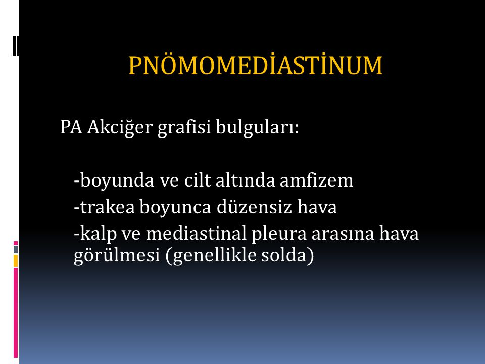 PNÖMOMEDİASTİNUM