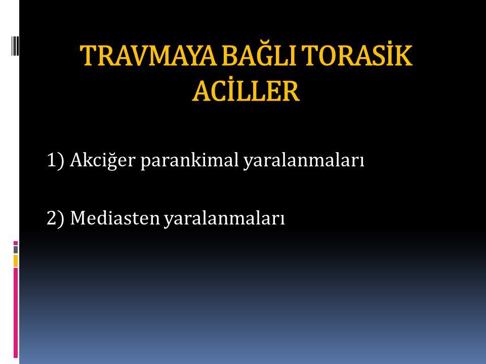 TRAVMAYA BAĞLI TORASİK ACİLLER