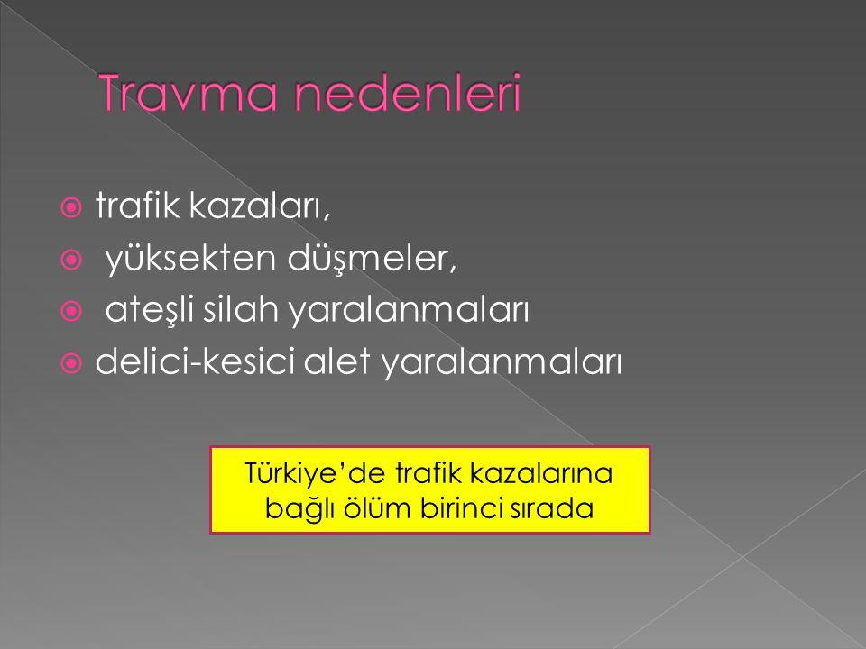 Türkiye'de trafik kazalarına bağlı ölüm birinci sırada