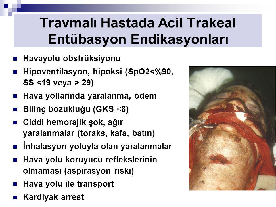 Travmalı Hastada Acil Trakeal Entübasyon Endikasyonları