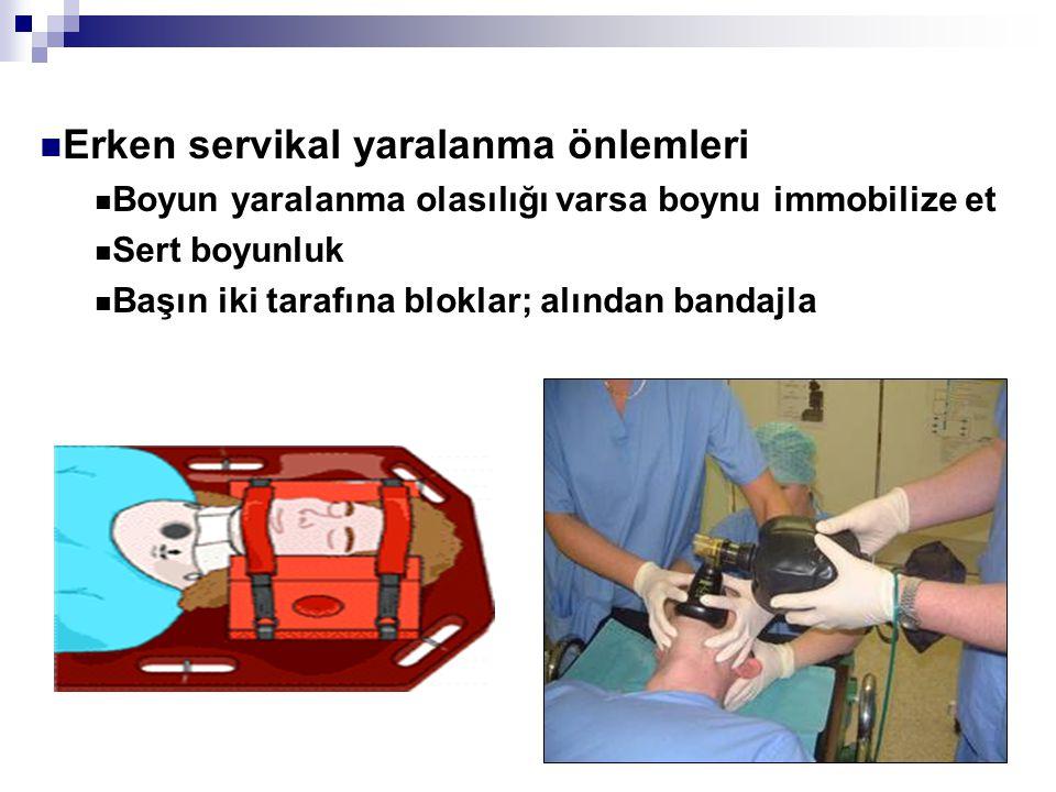 Erken servikal yaralanma önlemleri