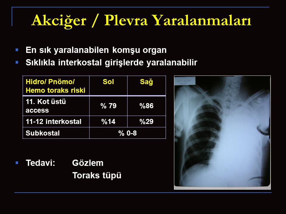 Akciğer / Plevra Yaralanmaları