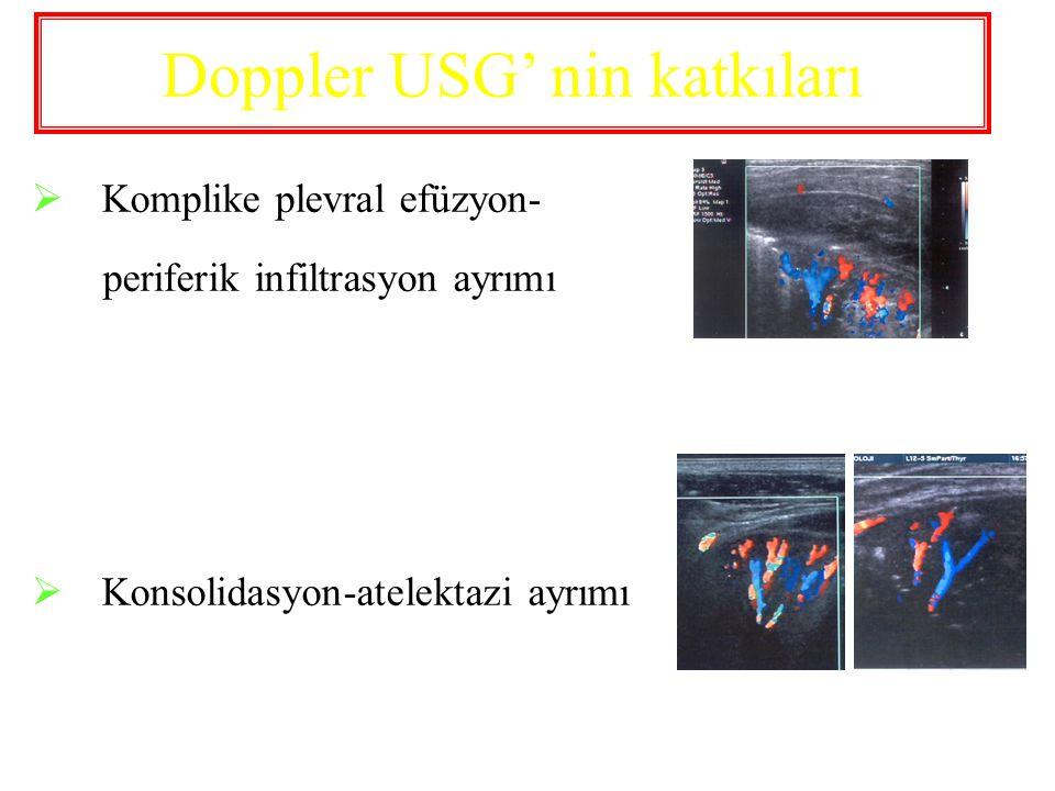 Doppler USG' nin katkıları