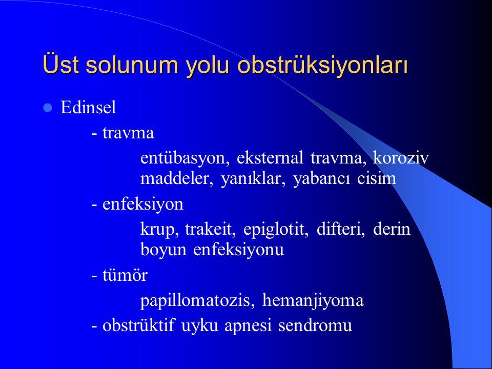 Üst solunum yolu obstrüksiyonları