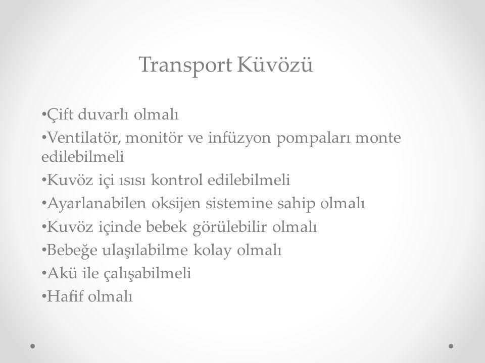 Transport Küvözü Çift duvarlı olmalı