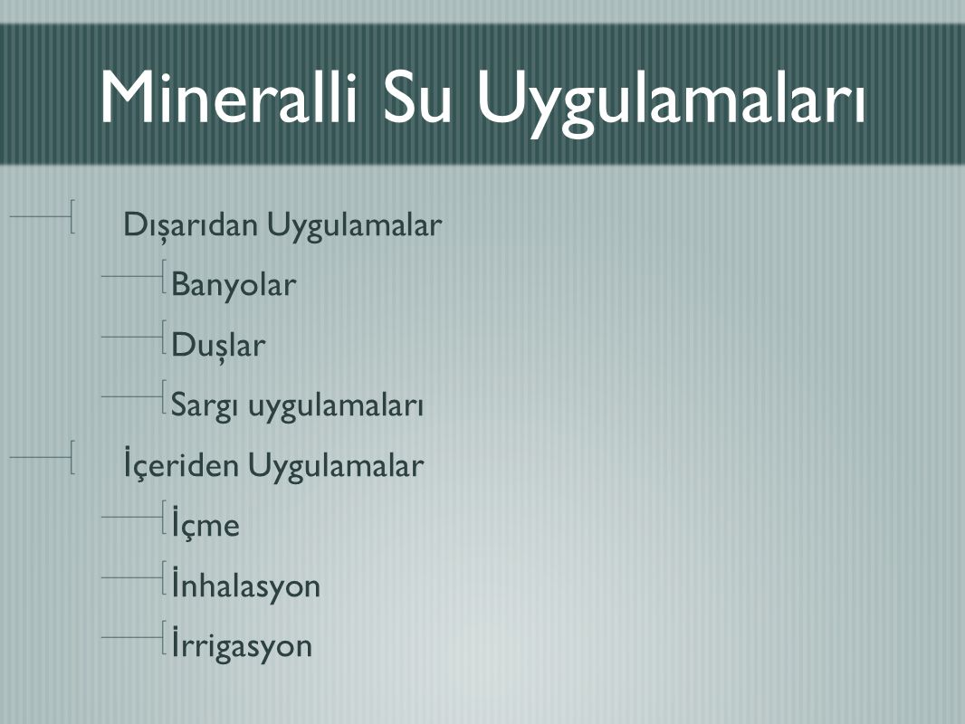 Mineralli Su Uygulamaları