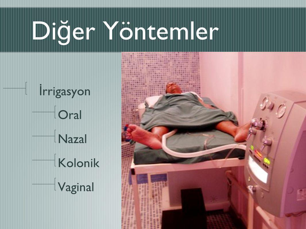 Diğer Yöntemler İrrigasyon Oral Nazal Kolonik Vaginal