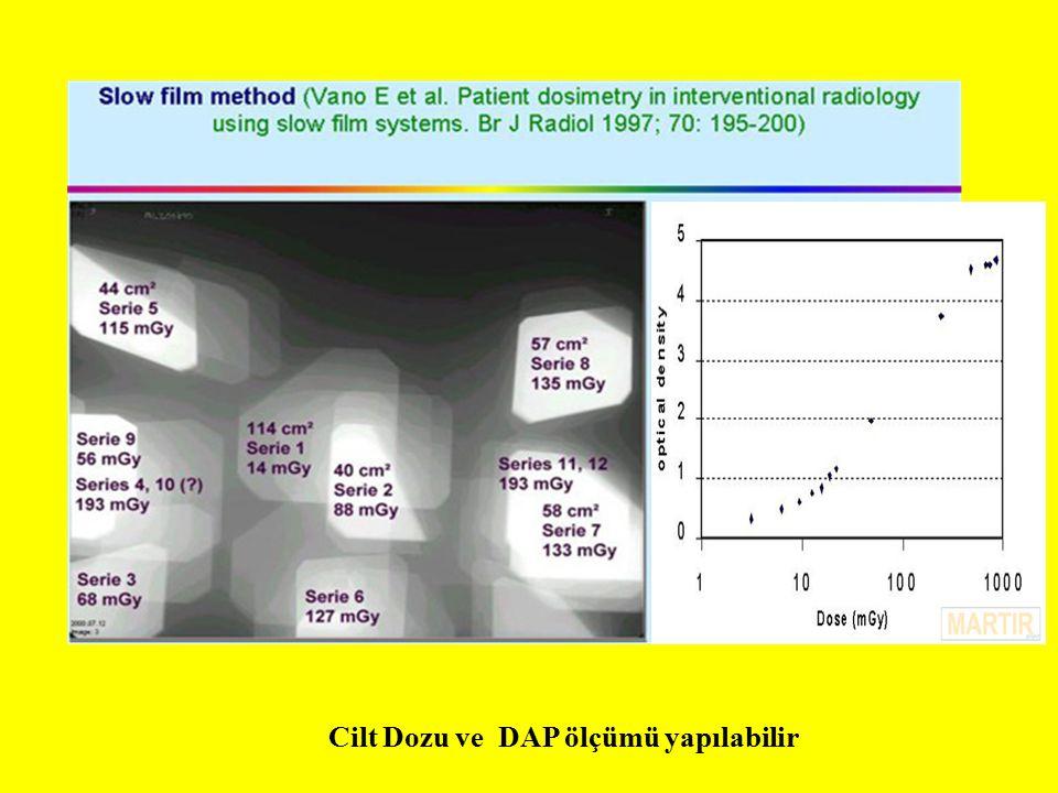 Cilt Dozu ve DAP ölçümü yapılabilir