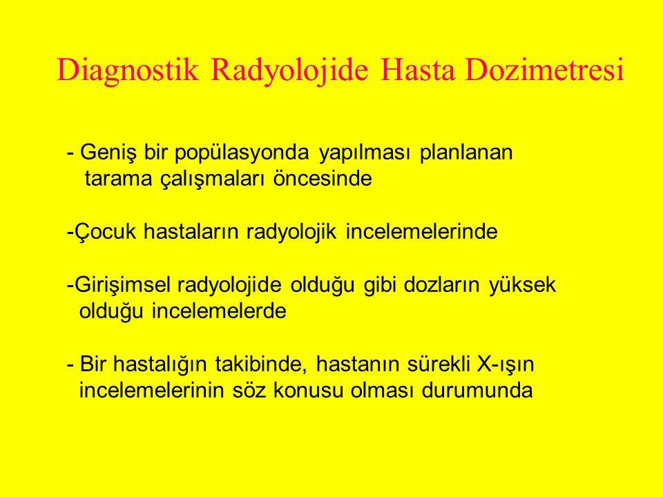 Diagnostik Radyolojide Hasta Dozimetresi