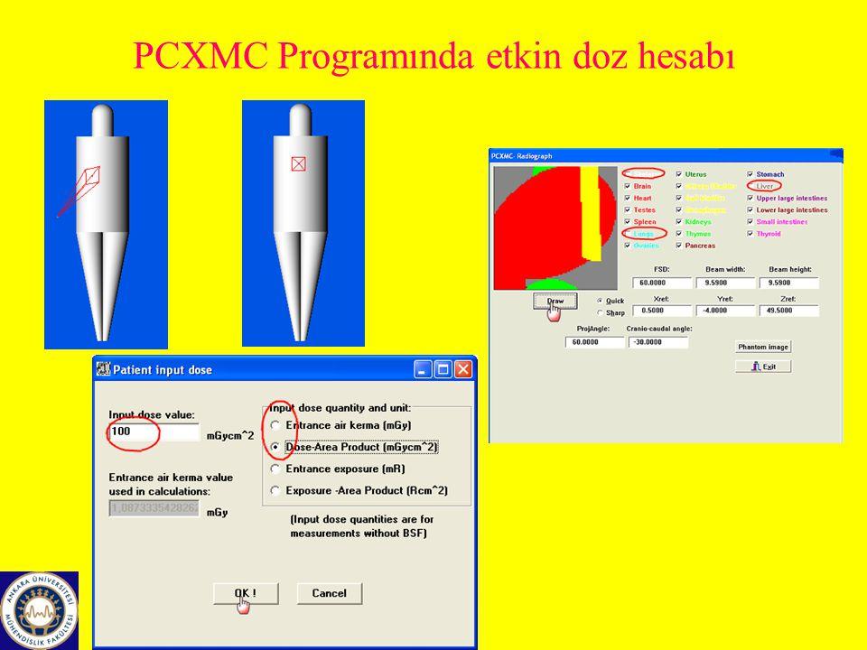 PCXMC Programında etkin doz hesabı