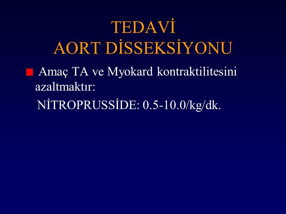 TEDAVİ AORT DİSSEKSİYONU