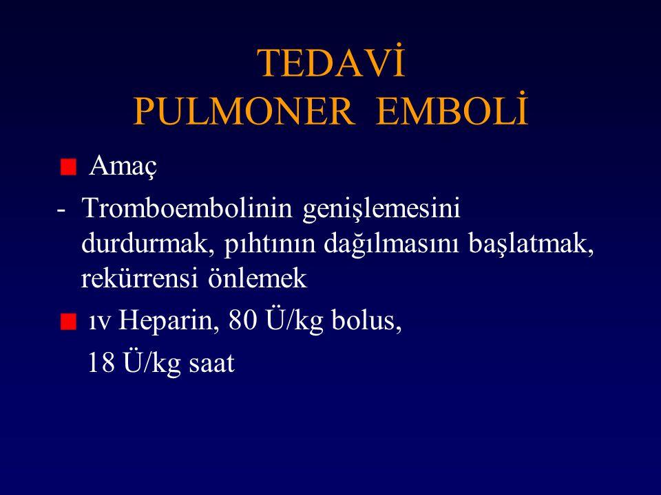 TEDAVİ PULMONER EMBOLİ