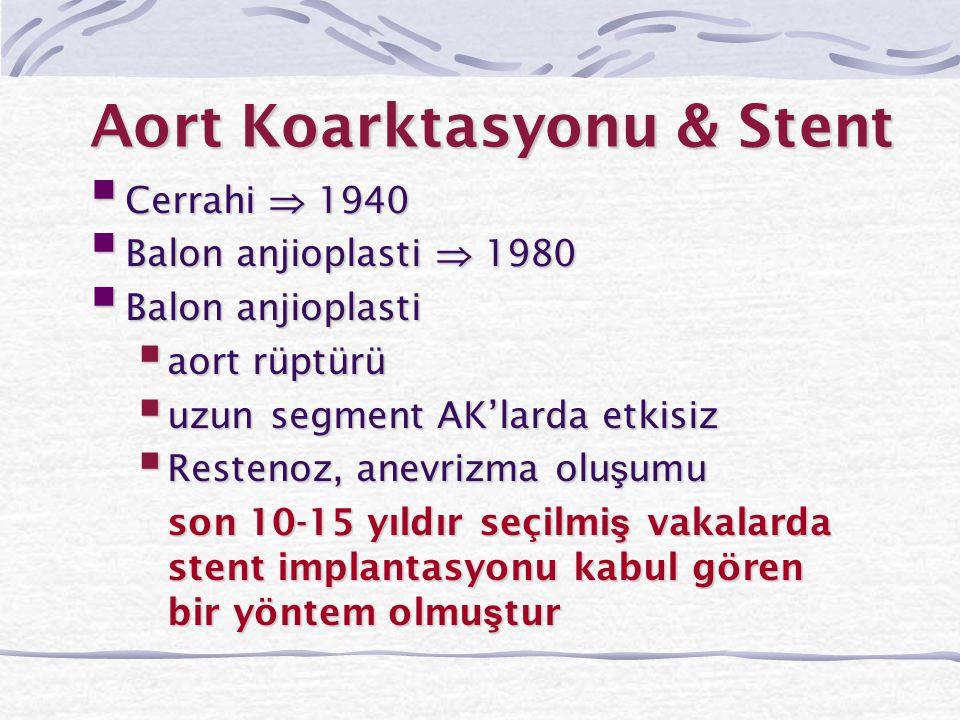 Aort Koarktasyonu & Stent
