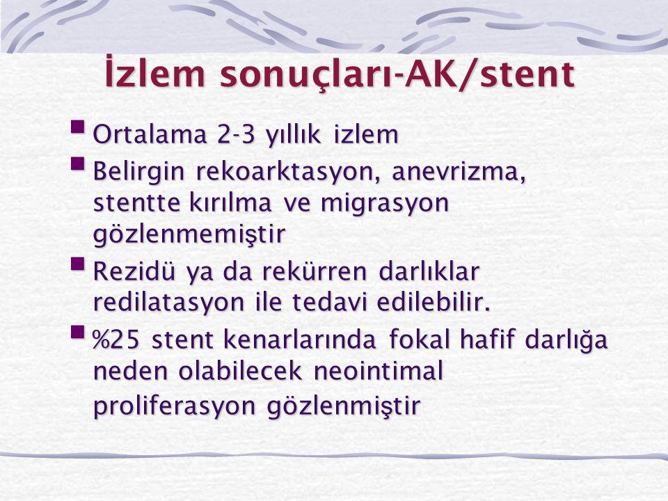 İzlem sonuçları-AK/stent