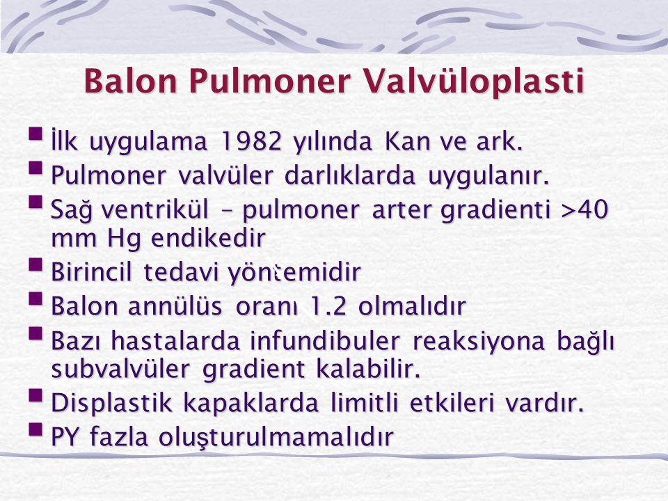 Balon Pulmoner Valvüloplasti