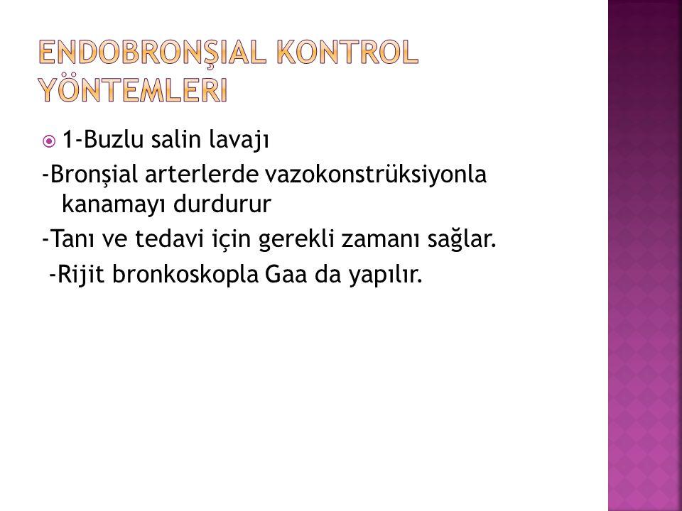 Endobronşial kontrol yöntemleri