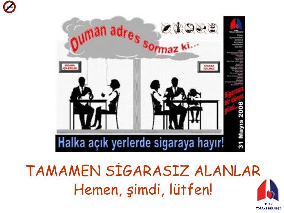 TAMAMEN SİGARASIZ ALANLAR