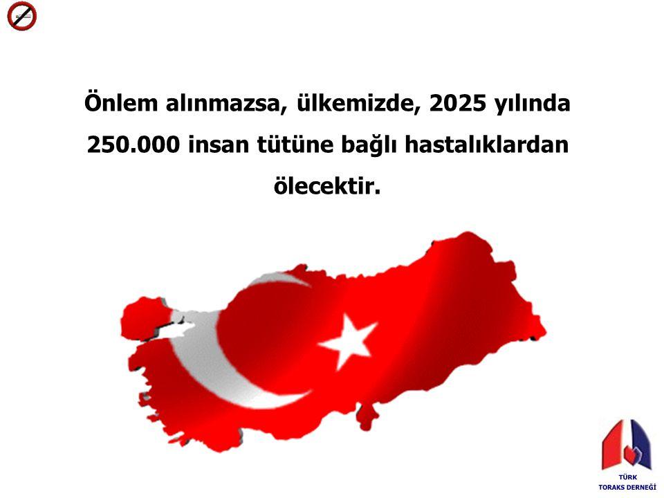 Önlem alınmazsa, ülkemizde, 2025 yılında 250