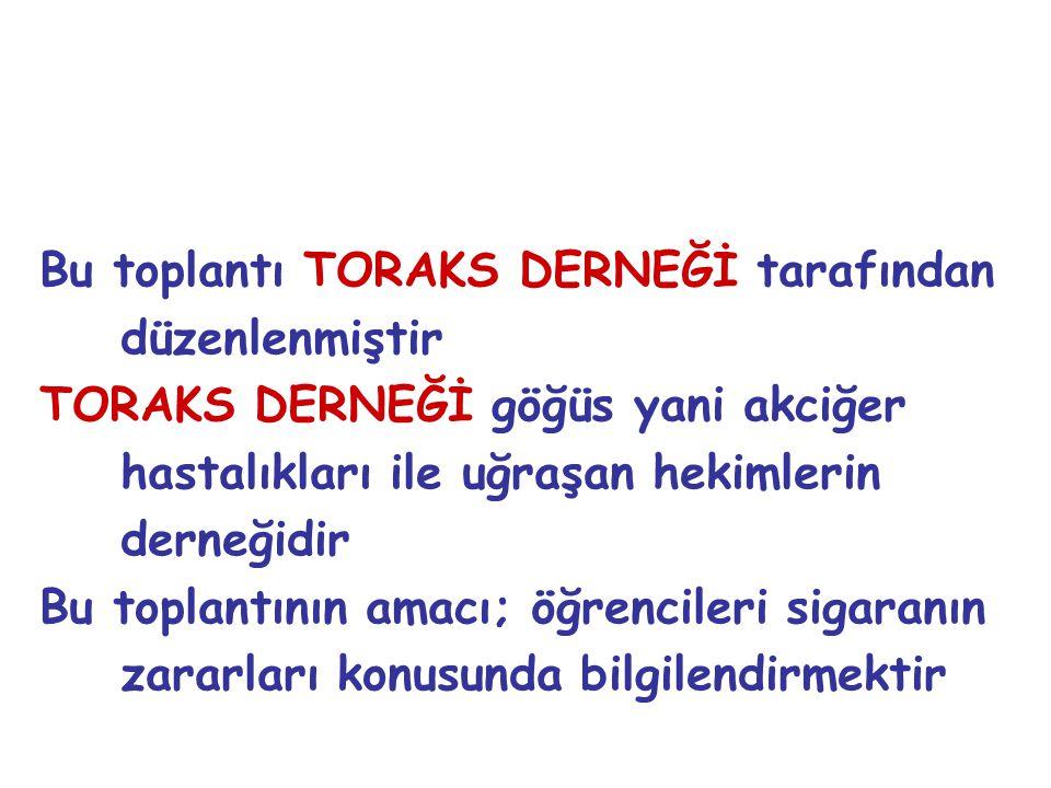 Bu toplantı TORAKS DERNEĞİ tarafından