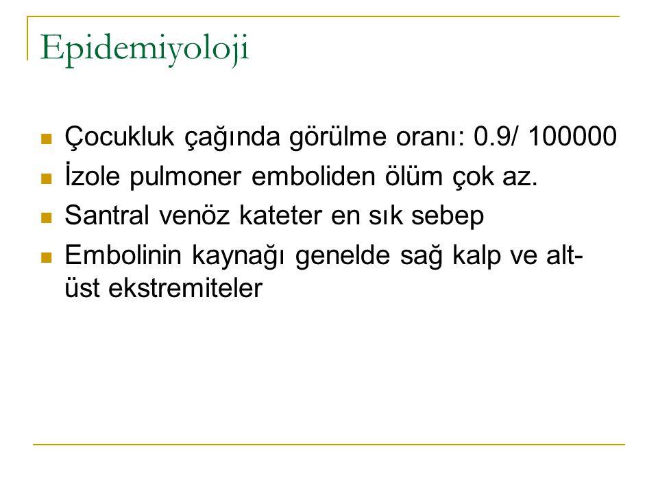 Epidemiyoloji Çocukluk çağında görülme oranı: 0.9/ 100000