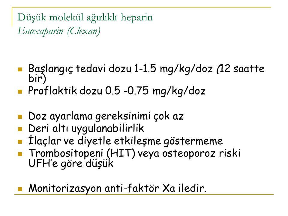 Düşük molekül ağırlıklı heparin Enoxaparin (Clexan)