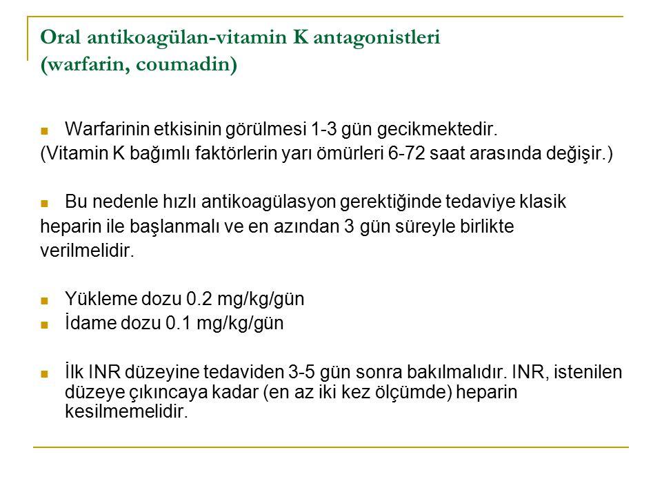 Oral antikoagülan-vitamin K antagonistleri (warfarin, coumadin)