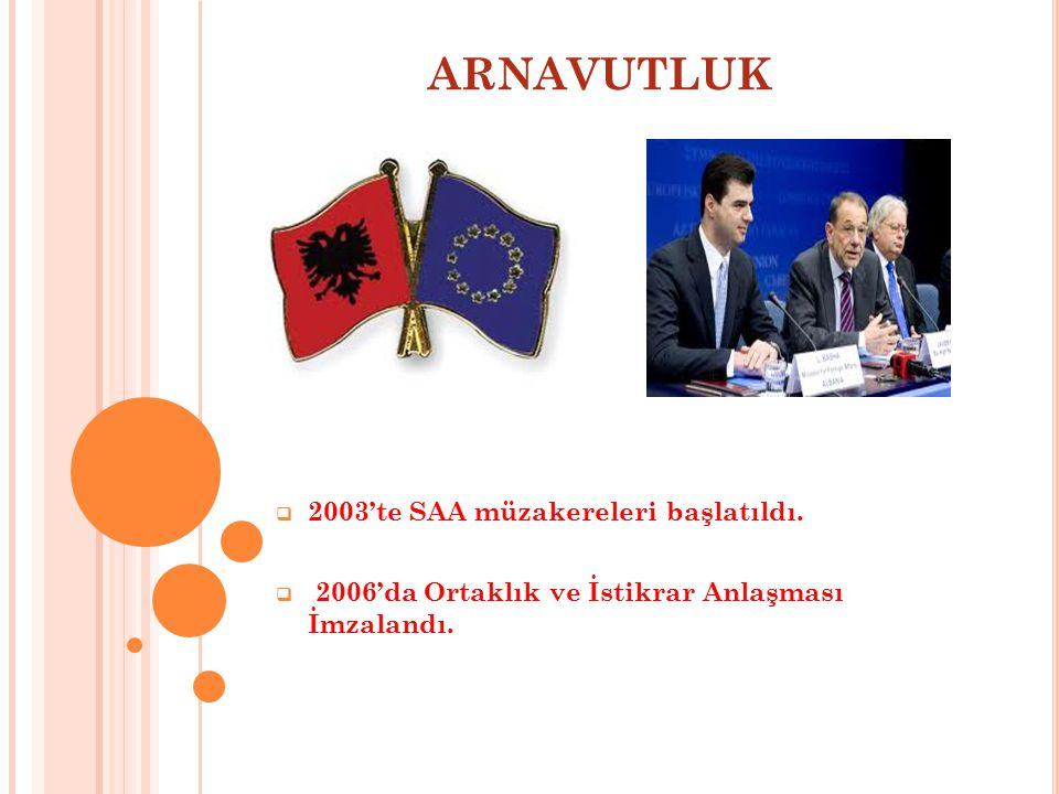 ARNAVUTLUK 2003'te SAA müzakereleri başlatıldı.
