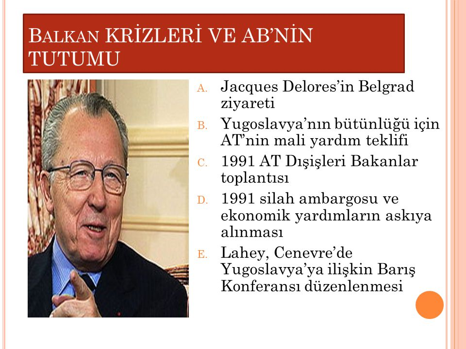 Balkan KRİZLERİ VE AB'NİN TUTUMU