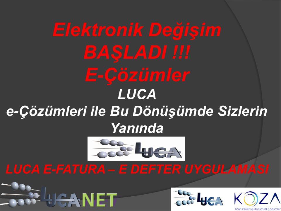 Elektronik Değişim BAŞLADI !!! E-Çözümler