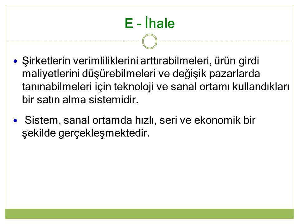E - İhale