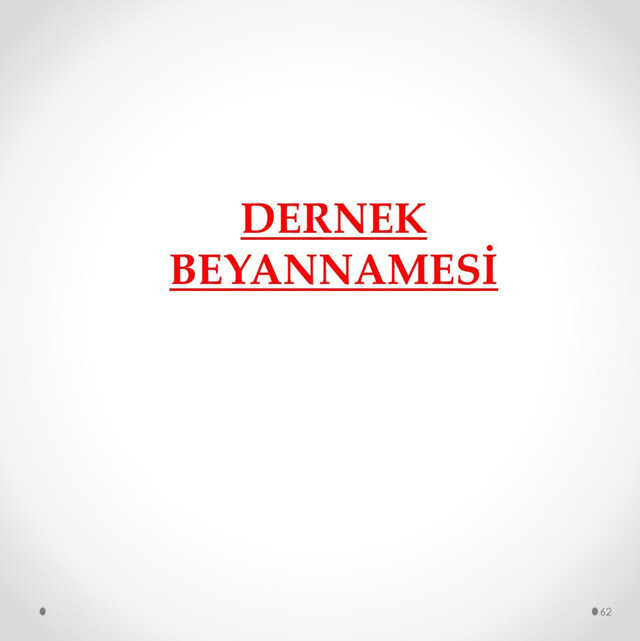 DERNEK BEYANNAMESİ
