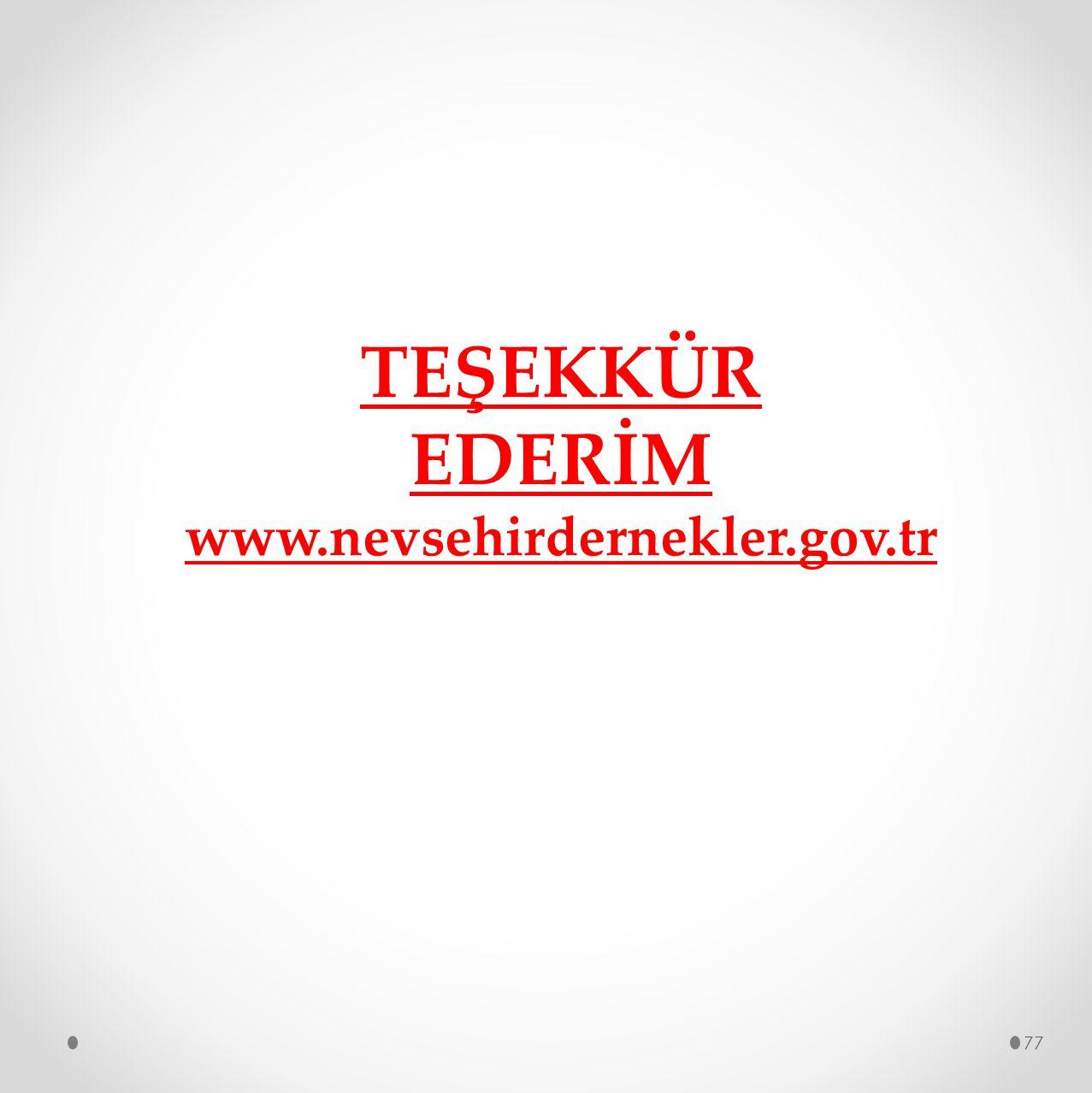 TEŞEKKÜR EDERİM www.nevsehirdernekler.gov.tr