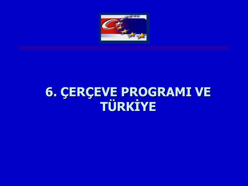 6. ÇERÇEVE PROGRAMI VE TÜRKİYE