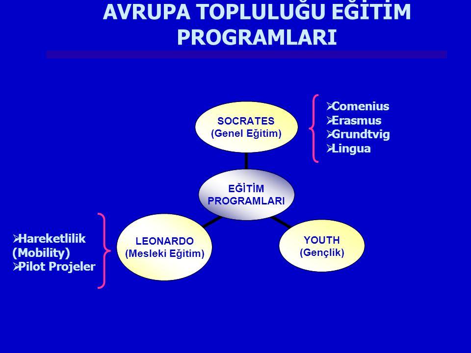 AVRUPA TOPLULUĞU EĞİTİM PROGRAMLARI