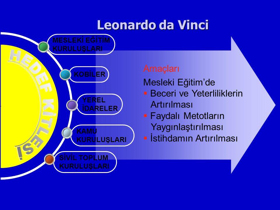 Leonardo da Vinci HEDEF KİTLESİ Amaçları Mesleki Eğitim'de