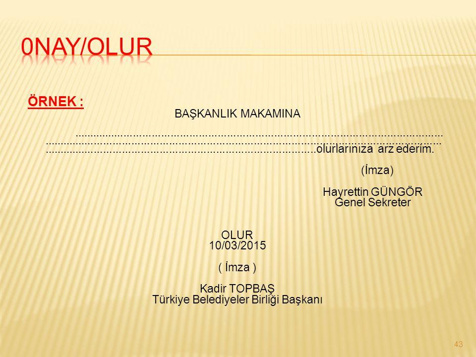 Türkiye Belediyeler Birliği Başkanı