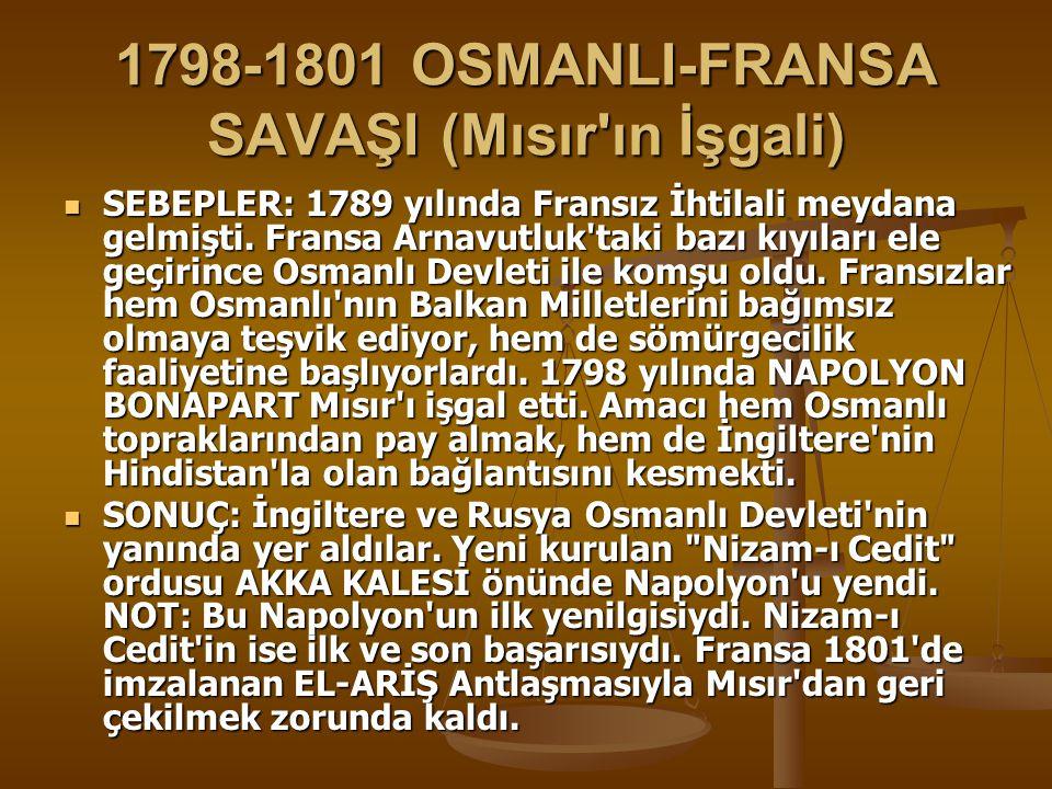 1798-1801 OSMANLI-FRANSA SAVAŞI (Mısır ın İşgali)