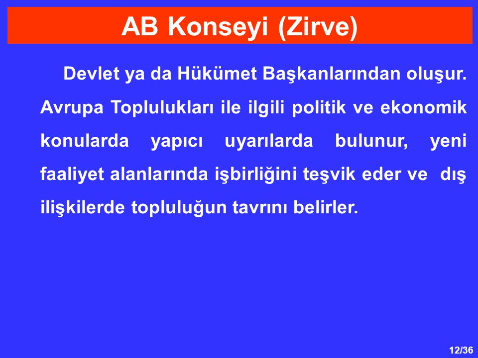 AB Konseyi (Zirve)
