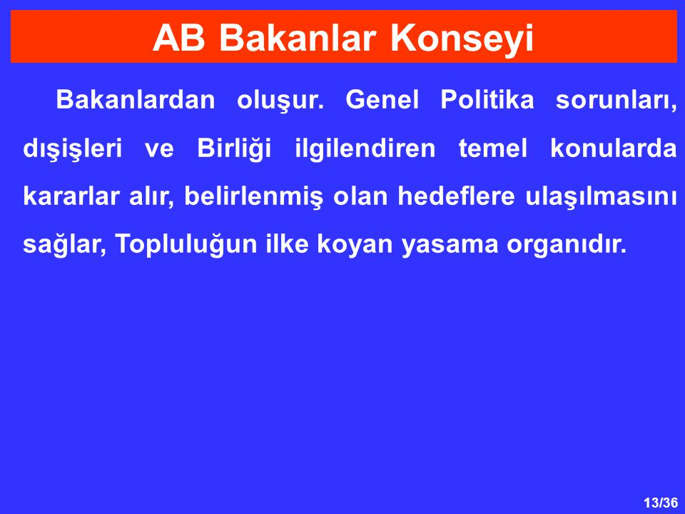 AB Bakanlar Konseyi