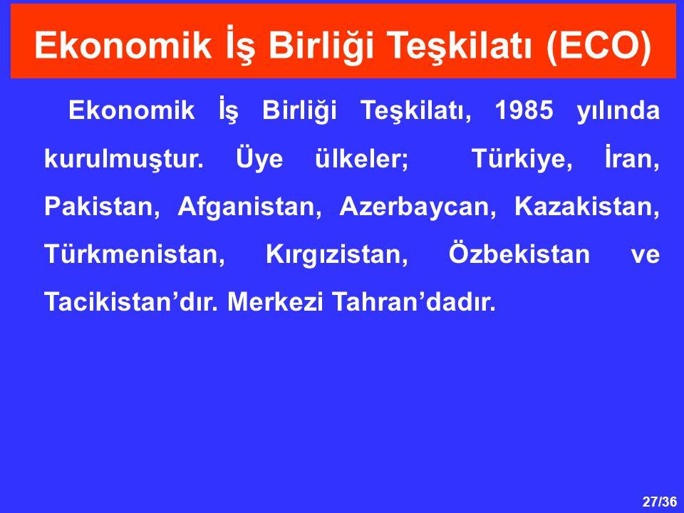 Ekonomik İş Birliği Teşkilatı (ECO)