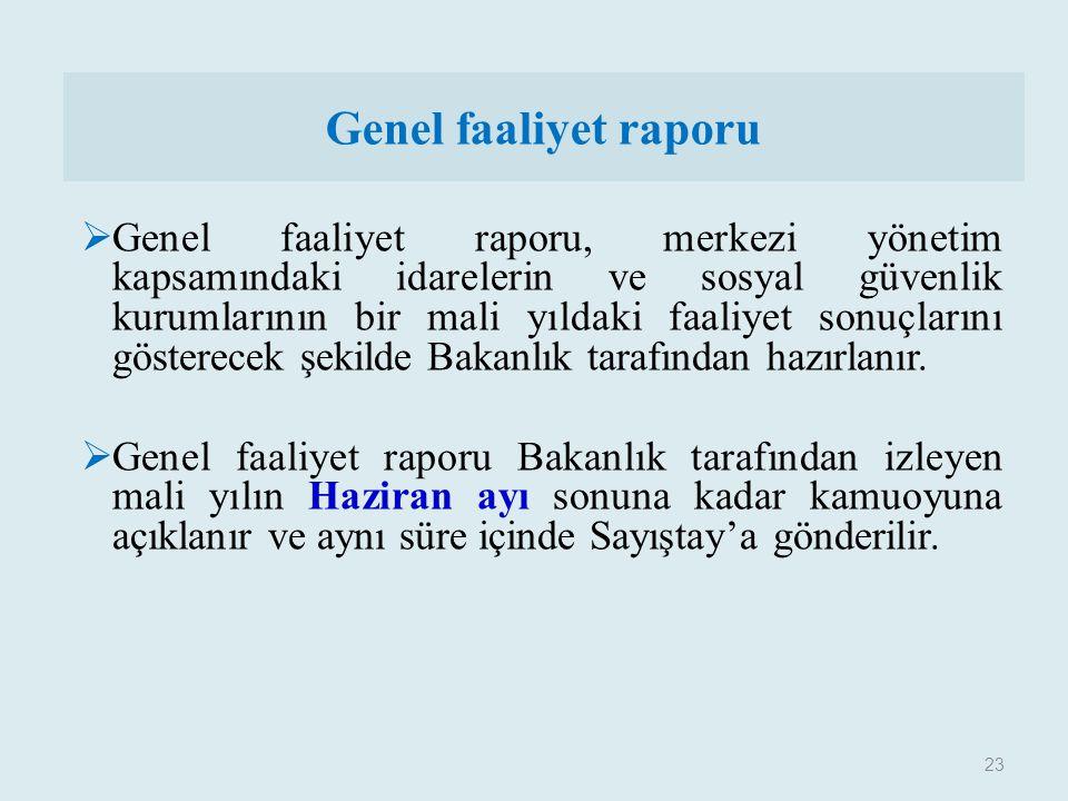 Genel faaliyet raporu