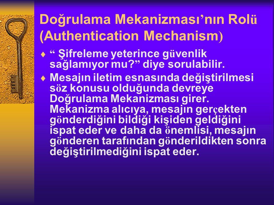 Doğrulama Mekanizması'nın Rolü (Authentication Mechanism)