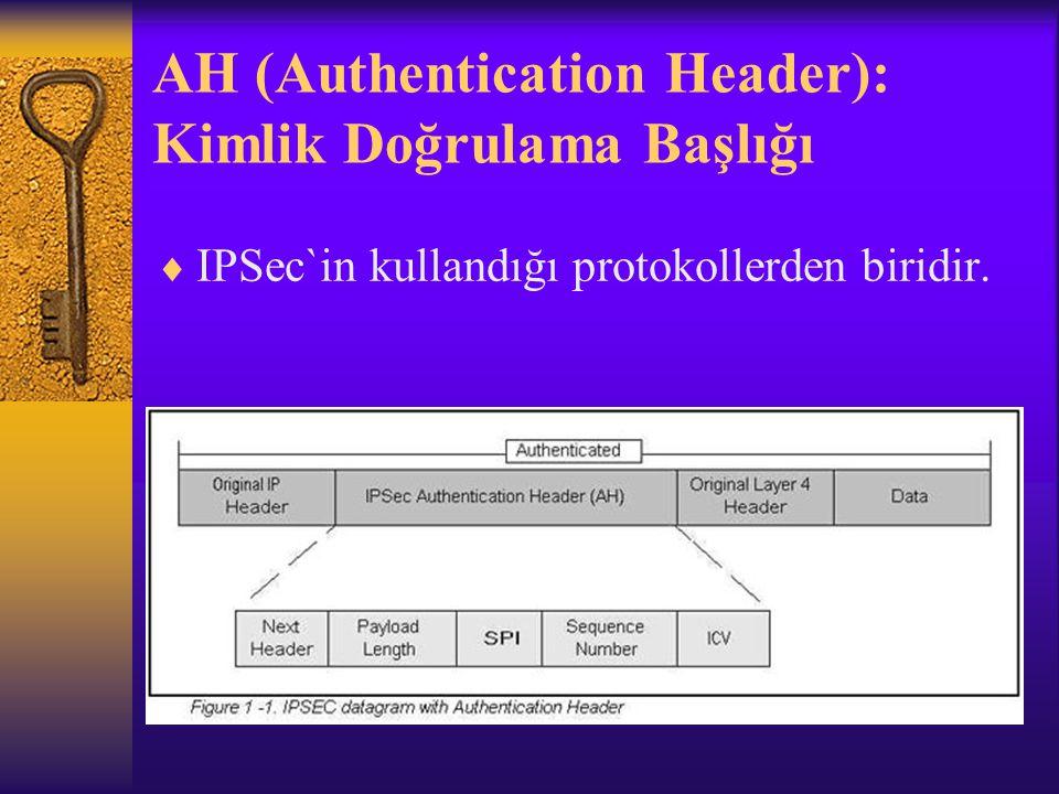 AH (Authentication Header): Kimlik Doğrulama Başlığı