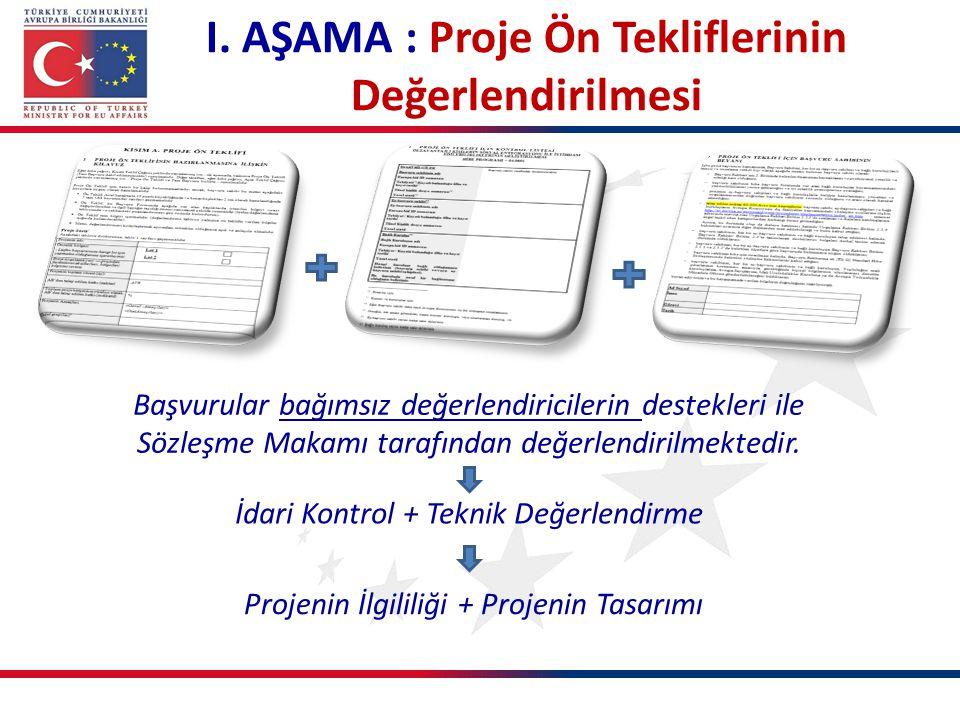 I. AŞAMA : Proje Ön Tekliflerinin Değerlendirilmesi