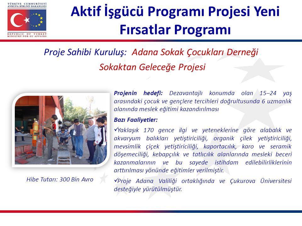 Aktif İşgücü Programı Projesi Yeni Fırsatlar Programı