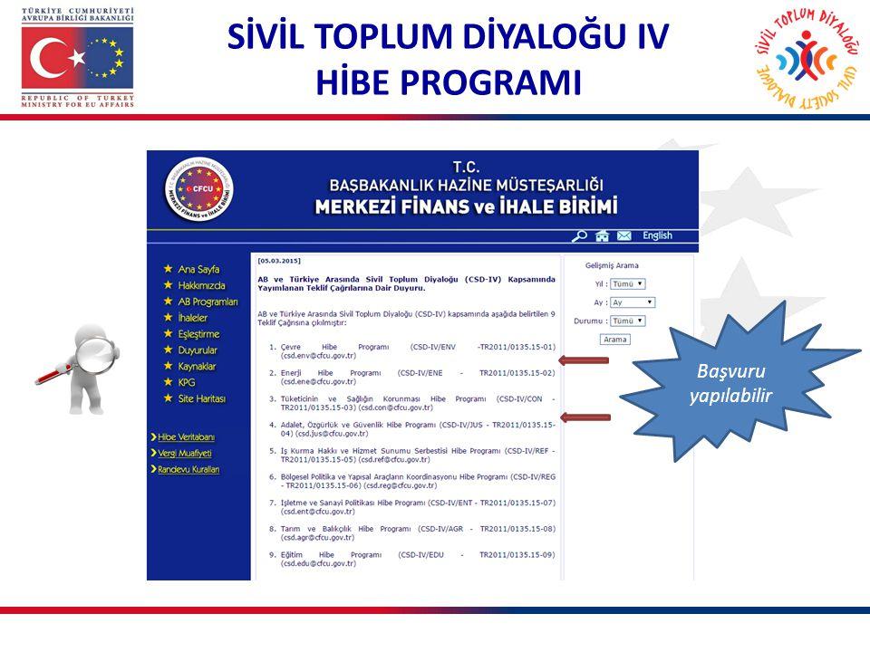 SİVİL TOPLUM DİYALOĞU IV HİBE PROGRAMI