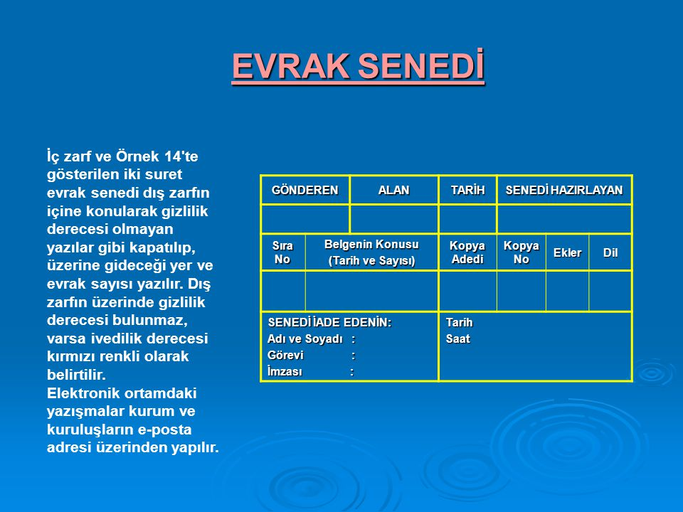 EVRAK SENEDİ
