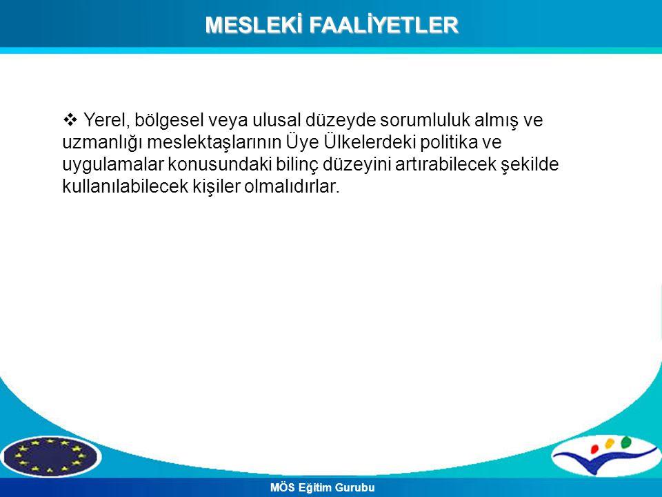 MESLEKİ FAALİYETLER