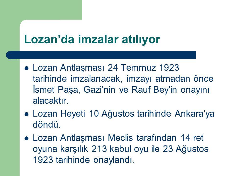 Lozan'da imzalar atılıyor