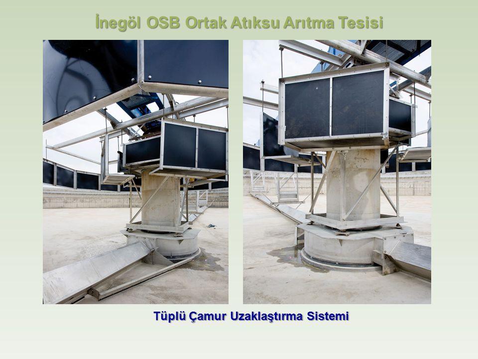 İnegöl OSB Ortak Atıksu Arıtma Tesisi Tüplü Çamur Uzaklaştırma Sistemi